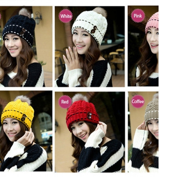 0c5b561b4a2 Sale Women s Winter Warm Hats Braided Crochet Hats Ski Beanie Caps Earmuff Knitting  Cap