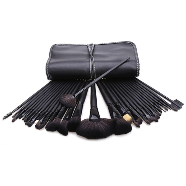 New 32 Makeup Brush Pro Eyebrow Brushes Professional??Cosmetic Eye Shadow Brush Set+ Kit Case Bag