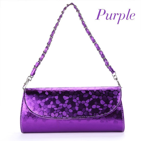 New Fashion Women Synthetic Leather Chain Bag Handbags Evening Bag
