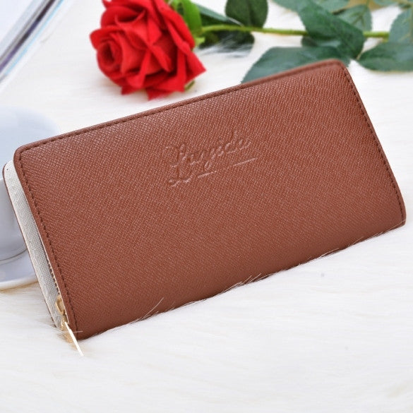 New Female Single Zipper Coin Purse Bag Clutch Wallet Fashion Wallet Ladies Handbags