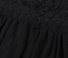 Deep V-neck V-back Backless Lace Little Black Dress - Meet Yours Fashion - 7