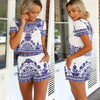 Floral Vintage Crop Top Shorts 2PCS Dress Set - Meet Yours Fashion - 1