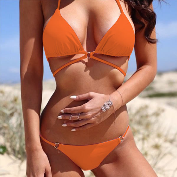 Halter Bandage Bikini Set Swimwear Swimsuit - MeetYoursFashion - 1