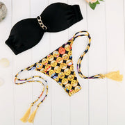 Sexy Emoji Print Bikini Set Swimwear - MeetYoursFashion - 1