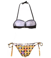 Sexy Emoji Print Bikini Set Swimwear - MeetYoursFashion - 4