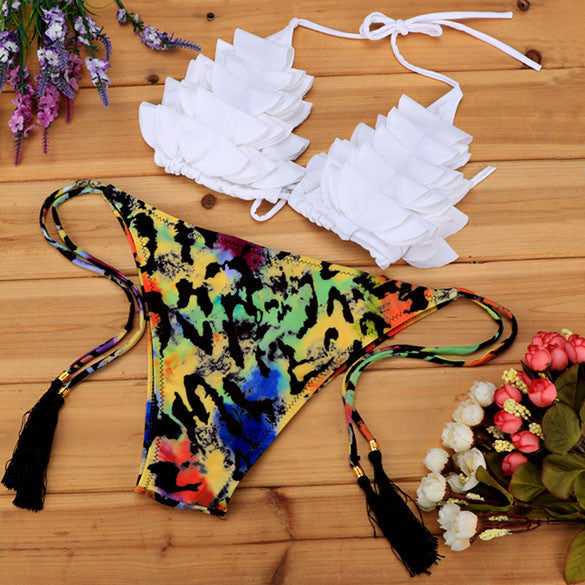 Push Up Padded Printed Bra And Briefs - MeetYoursFashion - 1