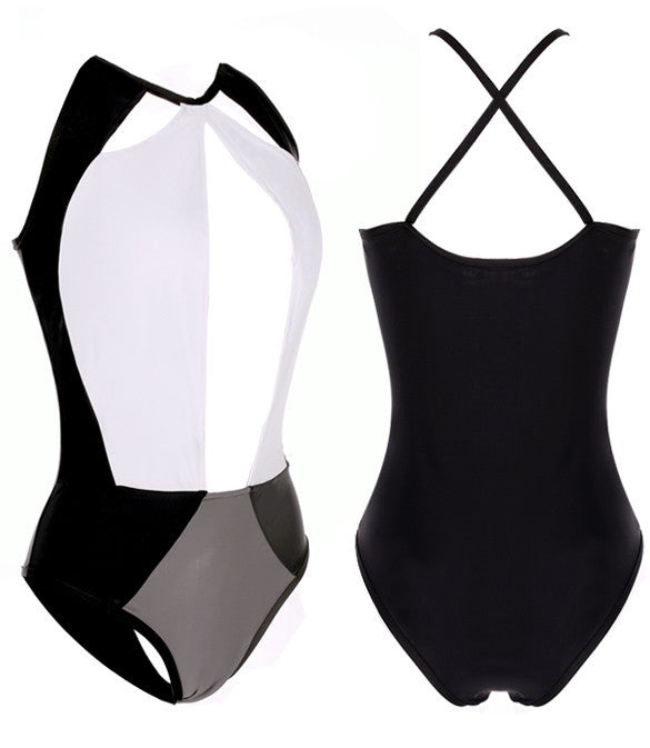 Sexy Hollow Out Backless Patchwork One Piece Beach Swimwear - MeetYoursFashion - 5