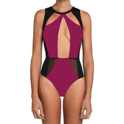 Sexy Hollow Out Backless Patchwork One Piece Beach Swimwear - MeetYoursFashion - 3
