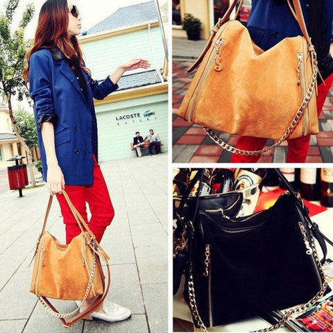 Fashion Korean Women's Tote Clutch Handbag Shoulder Bag Messenger Cross Bag Synthetic Leather Satchel
