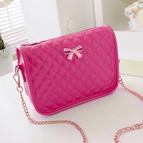 New Fashion Women Synthetic Leather Casual Bow Shoulder Bag Cross Bag Handbag