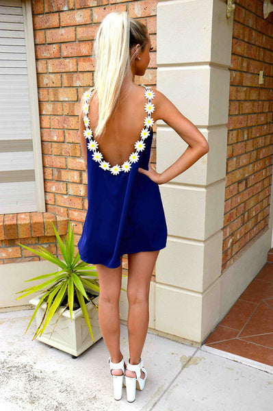 Backless Loose Chiffon A-line Short Dress - MeetYoursFashion - 4