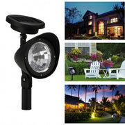 New Solar Garden Lamp Spot Light Outdoor Lawn Landscape Path 3 LED Spotlight Black