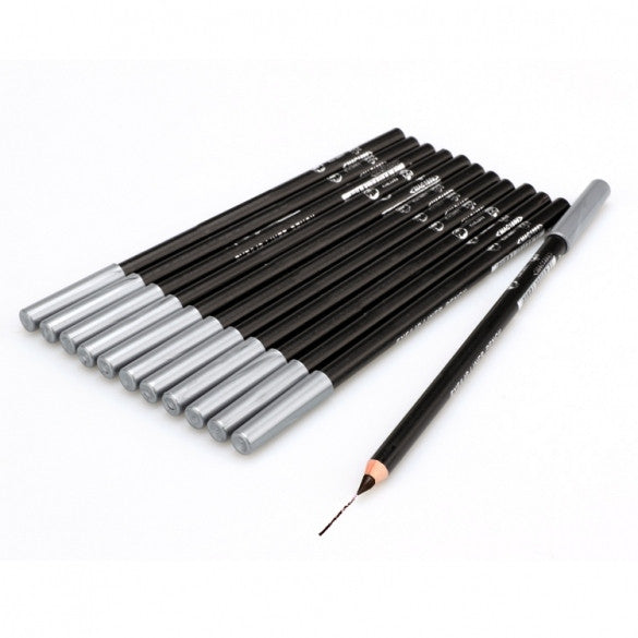 Fashion One Set 12 Sticks Waterproof Cosmetic Make Up Eyeliner Pencil