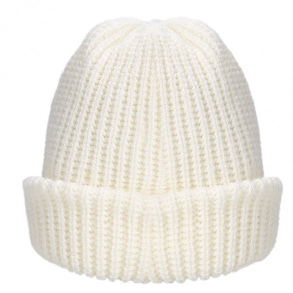Unisex Plain Knitting Solid Cap Baggy Beanie Warm Winter Casual Hat Oversize