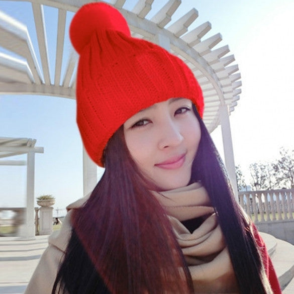 New Fashion Lady Women's All-match Crochet Knitted Curl Beanie Hat Cap