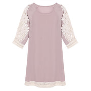 Women Casua Floral Lace Splicing Dress - MeetYoursFashion - 5