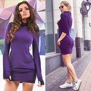 Spring Fall Casual Long Sleeves Package Hip Short Sweater Dress - MeetYoursFashion - 4