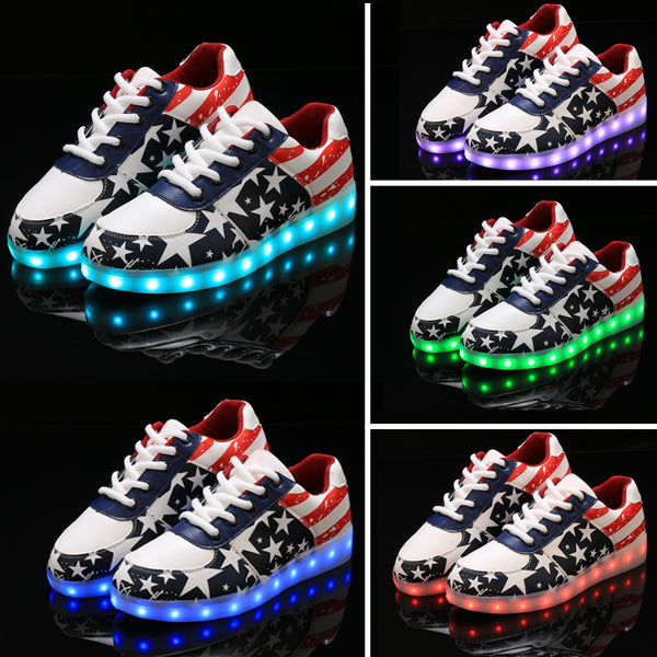 Fashion Unisex Lace Up LED Light Luminous Shoes Sportswear Sneaker Casual Shoes - MeetYoursFashion - 4