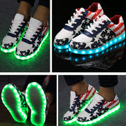 Fashion Unisex Lace Up LED Light Luminous Shoes Sportswear Sneaker Casual Shoes - MeetYoursFashion - 3