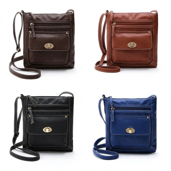 Women Fashion Retro Small Solid Handbag Cross Body Shoulder Bags