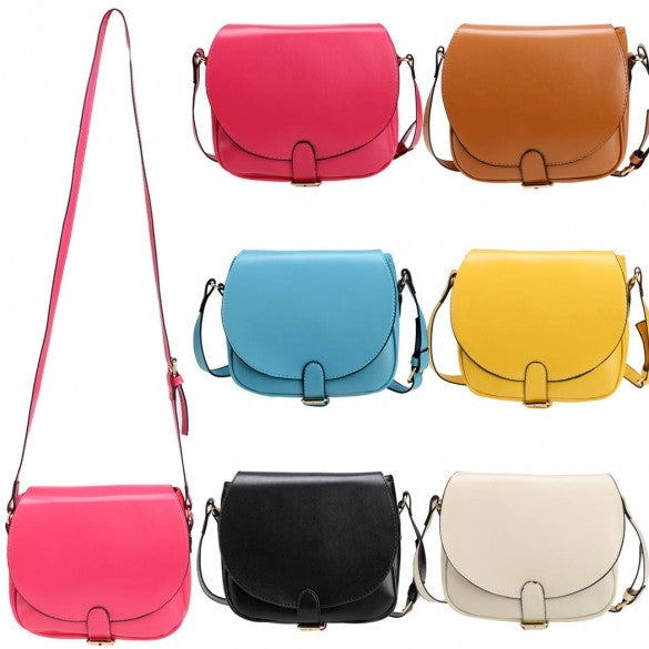 Candy Color Women Synthetic Leather Shoulder Strap Cross Mini Small Bag Messenger Tote