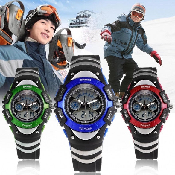 Fashion Multifunctional Watch LED Digital Dial Quartz Wristwatch Student Sport Watch