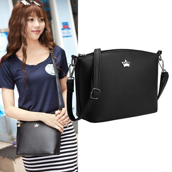 Women Synthetic Leather Solid Shoulder Strap Cross Casual Mini Small Bag Messenger Tote