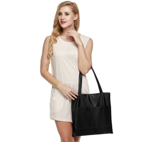 Retro Women Synthetic Leather Shoulder Strap Casual Bag
