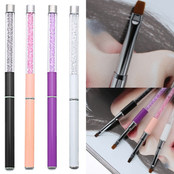 1PC Nail Care Tools Crystal Gel Pen Brush Handle Nail Art Pen 4 Colors
