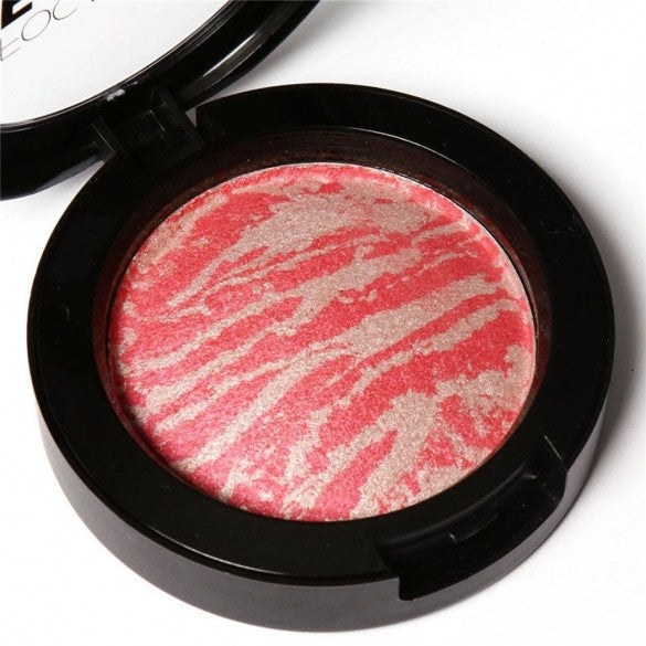 6 Colors Cheek Makeup Baked Blush Bronzer Blusher With Blush Brush