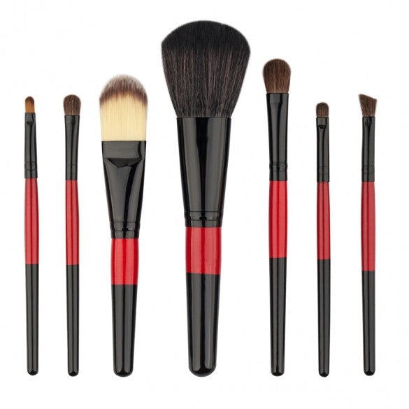 7pcs Makeup Brushes Cosmetic Powder Blush Contour Foundation Eyeshadow Make-up Brush Set