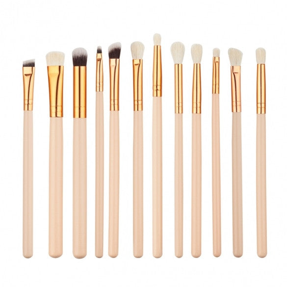 12pcs Makeup Brushes Cosmetic Powder Brush Contour High-light Eyebrow Eyeshadow Make-up Set