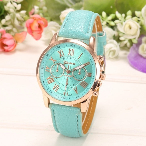 New Women Round Wristwatch Multi Dial Quartz Battery Analog Casual Sports Watch - Meet Yours Fashion - 1