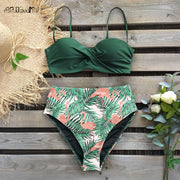 Beach Cutout High Rise Thong Bottom Bikinis