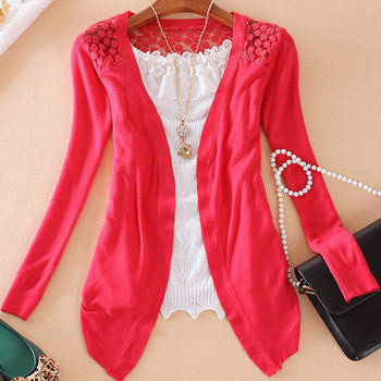 Candy Color Hollow Thin Knitting Blouse - Meet Yours Fashion - 8
