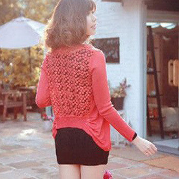 Candy Color Hollow Thin Knitting Blouse - Meet Yours Fashion - 10