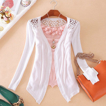 Candy Color Hollow Thin Knitting Blouse - Meet Yours Fashion - 6