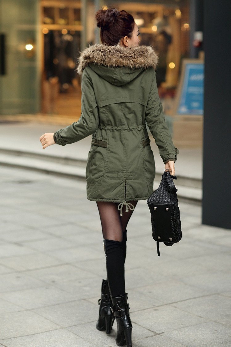 Momens Faux Fur Long Hooded Coat - Meet Yours Fashion - 7