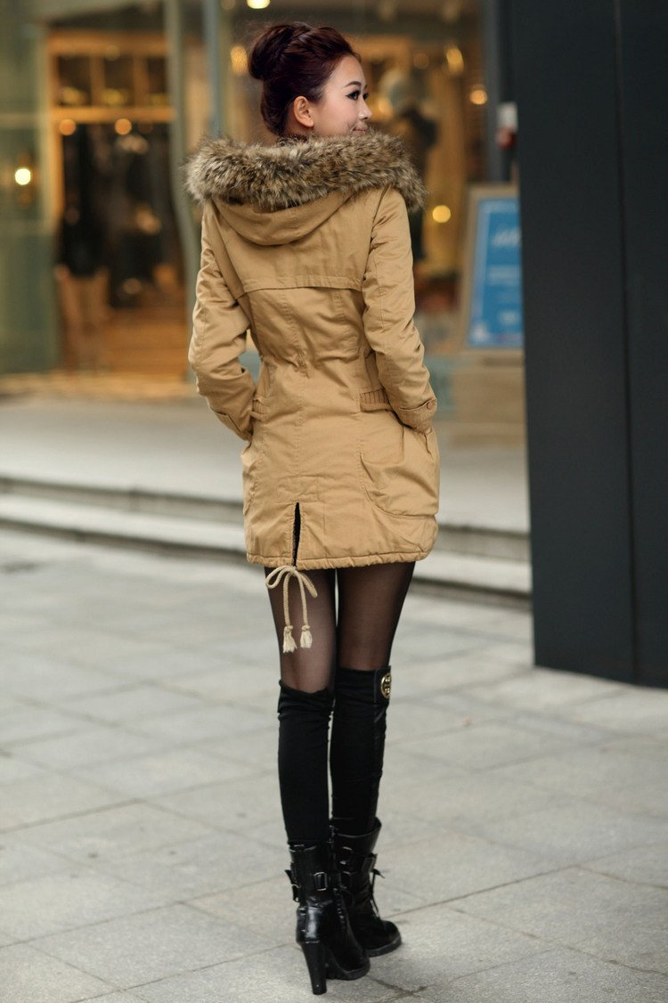Momens Faux Fur Long Hooded Coat - Meet Yours Fashion - 9