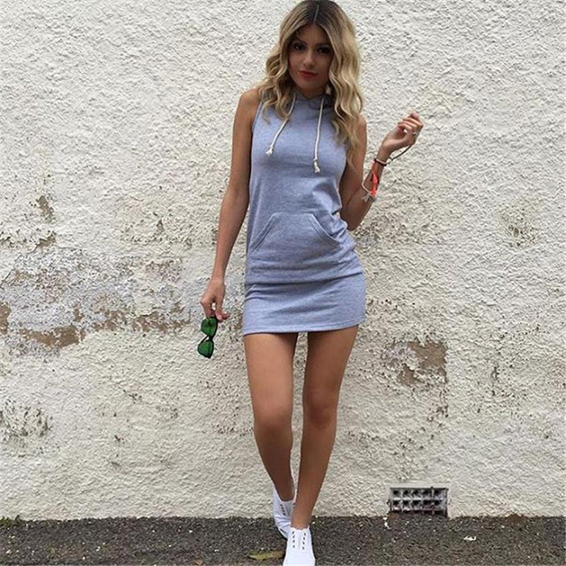 Sleeveless Bodycon Hat-with Short Dress - Meet Yours Fashion - 5