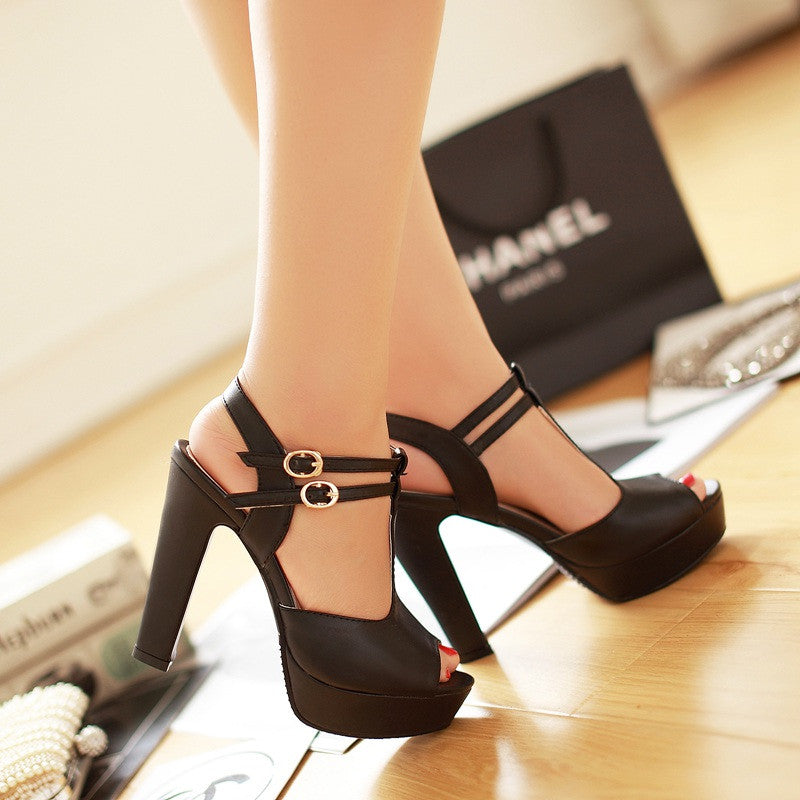 Fashion Platform Peep Toe Outdoor Heels Sandals - MeetYoursFashion - 6