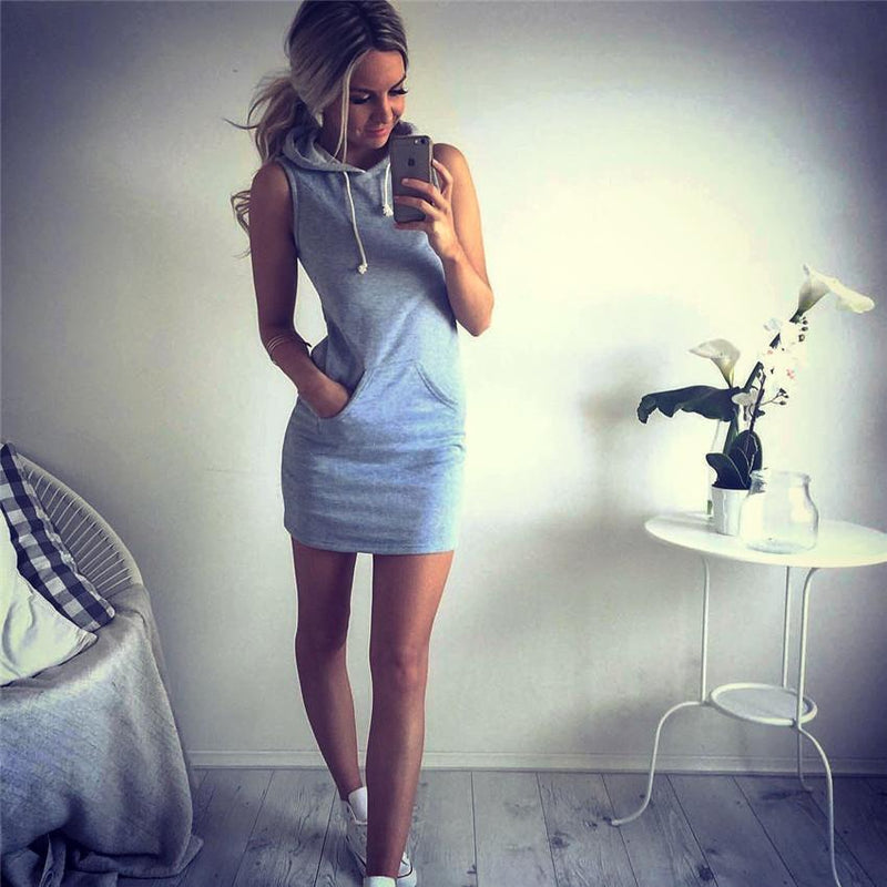 Sleeveless Bodycon Hat-with Short Dress - Meet Yours Fashion - 3
