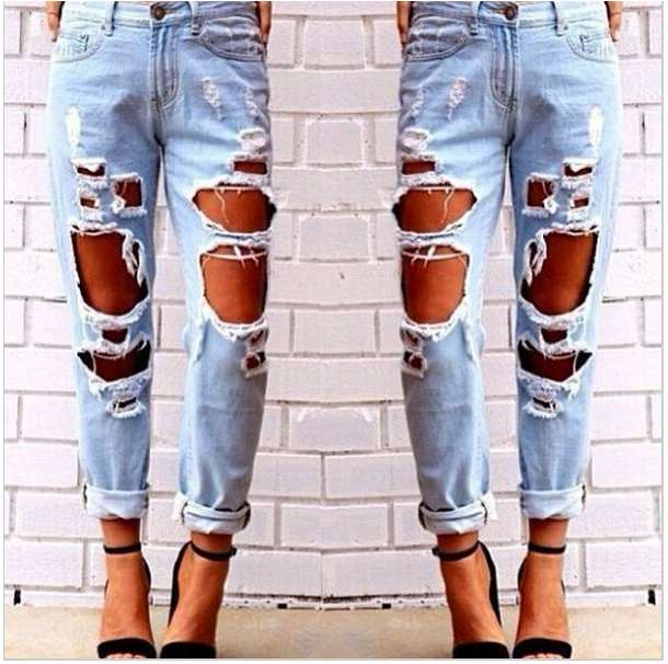 Big Holes Ripped Beggar BY Style Sexy Jeans - Meet Yours Fashion - 1