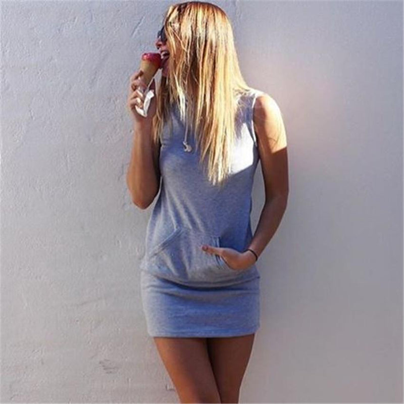 Sleeveless Bodycon Hat-with Short Dress - Meet Yours Fashion - 6
