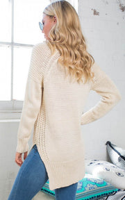 Leisure Pullover V-neck Knit Solid Color Sweater - Meet Yours Fashion - 6