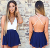 Sexy Back Crossover V-neck Backless Condole Romper