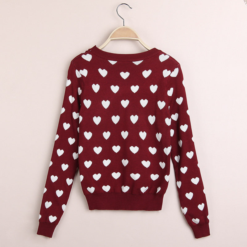 Korean Leisure Time Fashion Floral Knit Sweater
