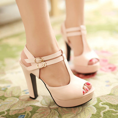 Fashion Platform Peep Toe Outdoor Heels Sandals - MeetYoursFashion - 1