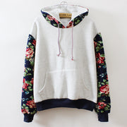 Print Retro Pullover Long Sleeve Loose Hoodie - Meet Yours Fashion - 2