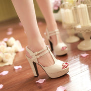 Fashion Platform Peep Toe Outdoor Heels Sandals - MeetYoursFashion - 5